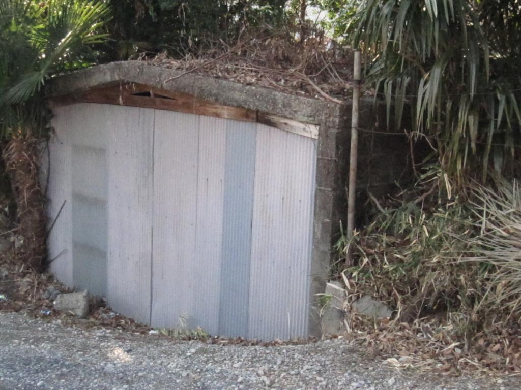 現存している内田さんの防空壕